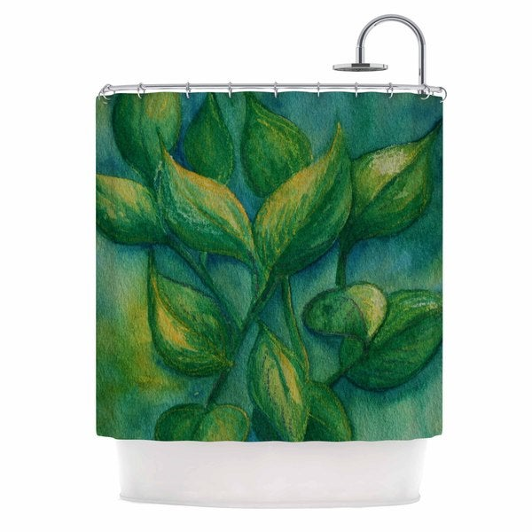 KESS InHouse Cyndi Steen Beginnings Green Nature Shower Curtain (69x70)