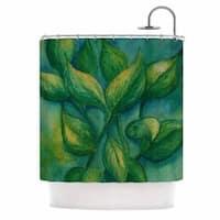 KESS InHouse Cyndi Steen Beginnings Green Nature Shower Curtain (69x70)