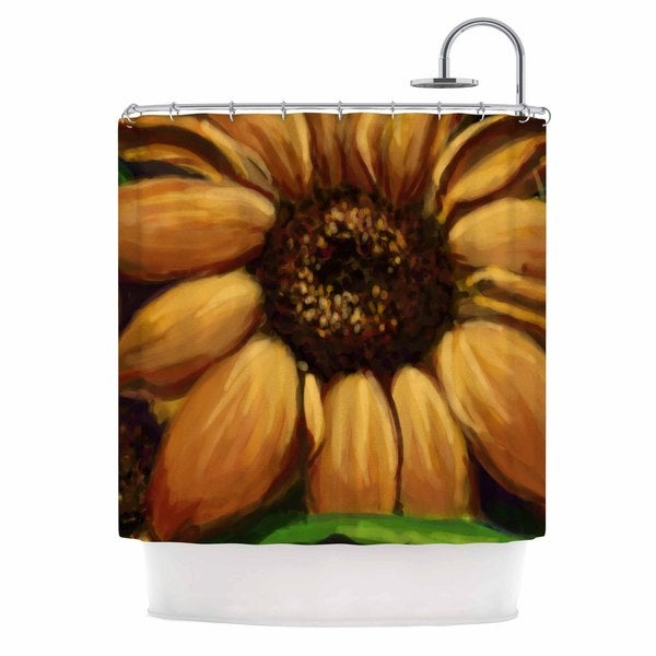 KESS InHouse Cyndi Steen Sunflower Days Yellow Floral Shower Curtain (69x70)