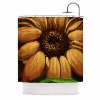 KESS InHouse Cyndi Steen Sunflower Days Yellow Floral Shower Curtain (69x70)
