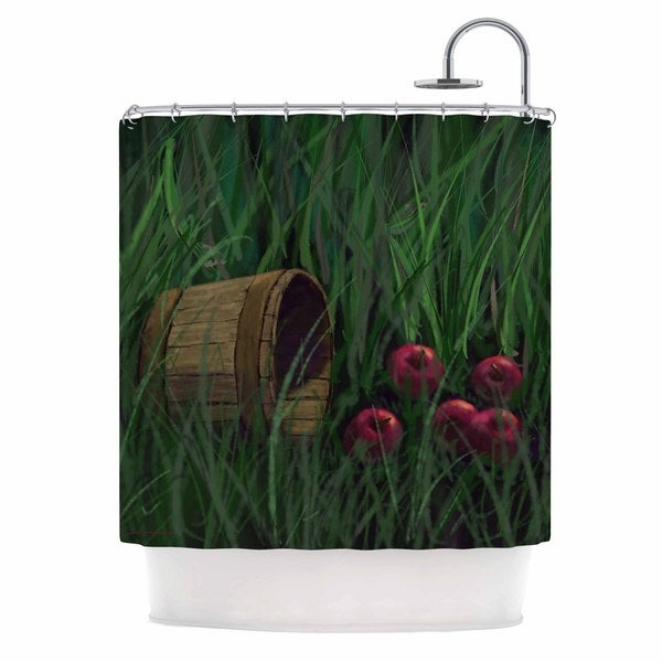 KESS InHouse Cyndi Steen Today's Therapy Green Red Shower Curtain (69x70)