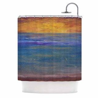KESS InHouse Cyndi Steen Sky On Fire Multicolor Orange Shower Curtain (69x70)