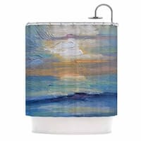 KESS InHouse Carol Schiff Ocean Sunset Blue Coastal Shower Curtain (69x70)