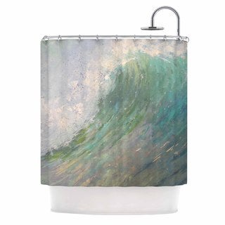 KESS InHouse Carol Schiff Wall Of Water Blue Painting Shower Curtain (69x70)