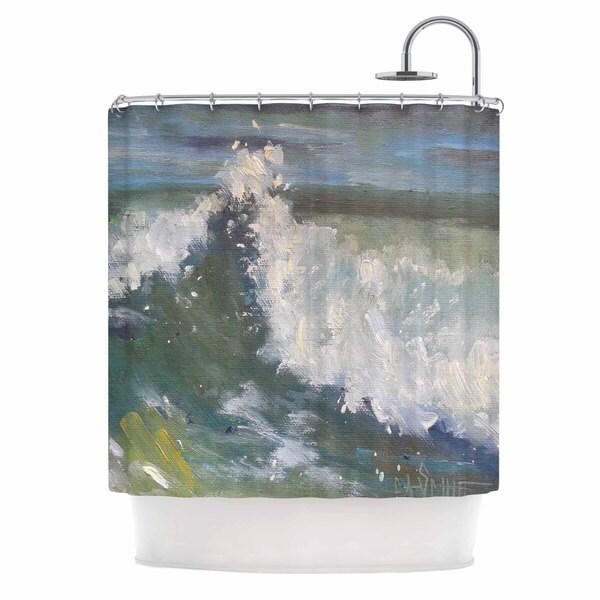 KESS InHouse Carol Schiff The Crest Nautical Painting Shower Curtain (69x70)