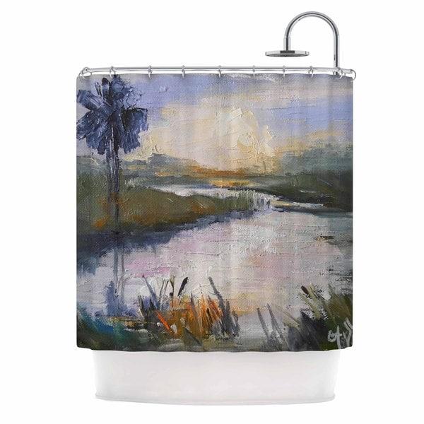 KESS InHouse Carol Schiff Florida Marshland Green Blue Shower Curtain (69x70)