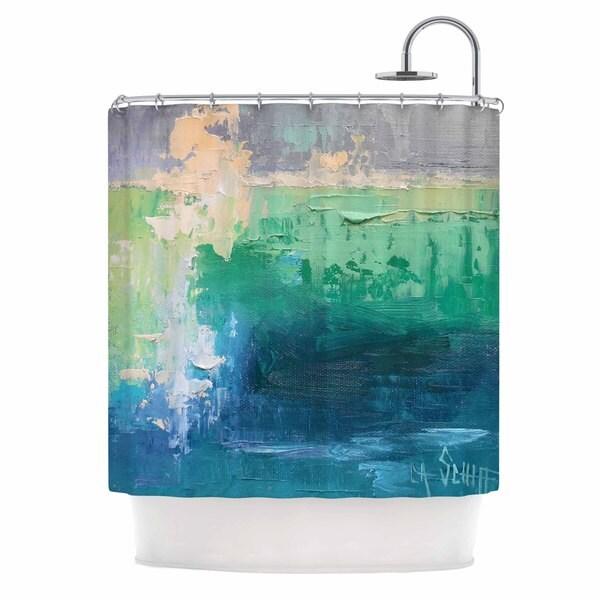 KESS InHouse Carol Schiff Sea Music Teal Painting Shower Curtain (69x70)