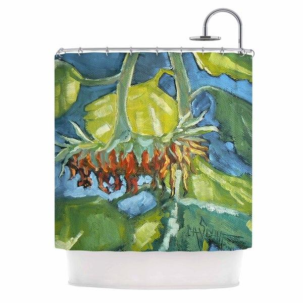 KESS InHouse Carol Schiff Summer's End Blue Green Shower Curtain (69x70)