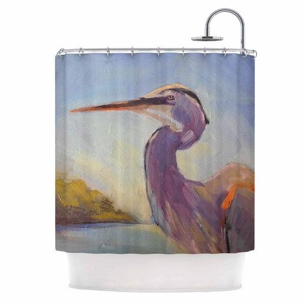 KESS InHouse Carol Schiff Tropical Sentry Lavender Animals Shower Curtain (69x70)