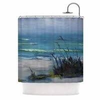 KESS InHouse Carol Schiff Sanibel Blue Painting Shower Curtain (69x70)