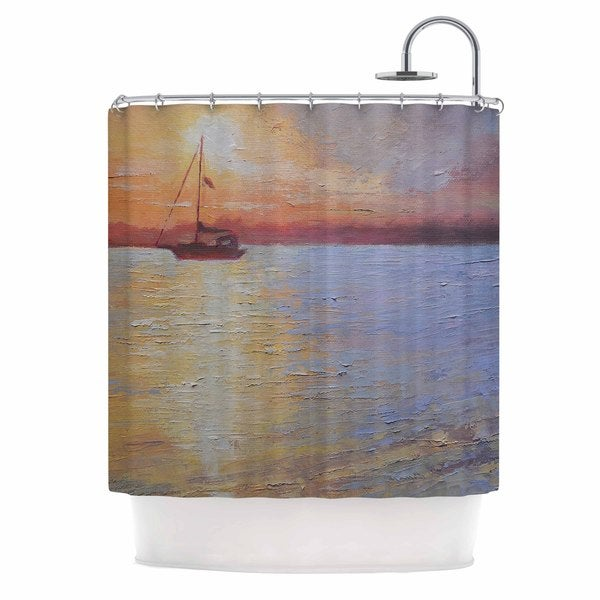 KESS InHouse Carol Schiff Evening Anchor Orange Painting Shower Curtain (69x70)