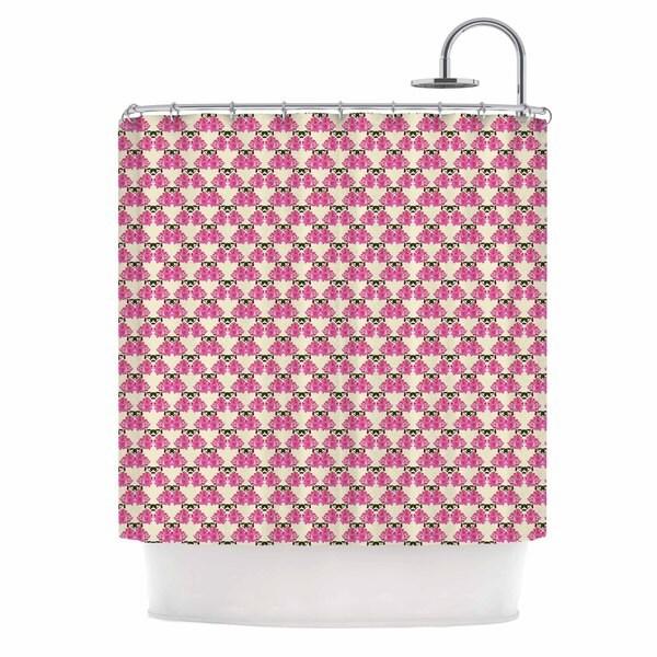 KESS InHouse Mayacoa Studio Rosea Yellow Pink Shower Curtain (69x70)