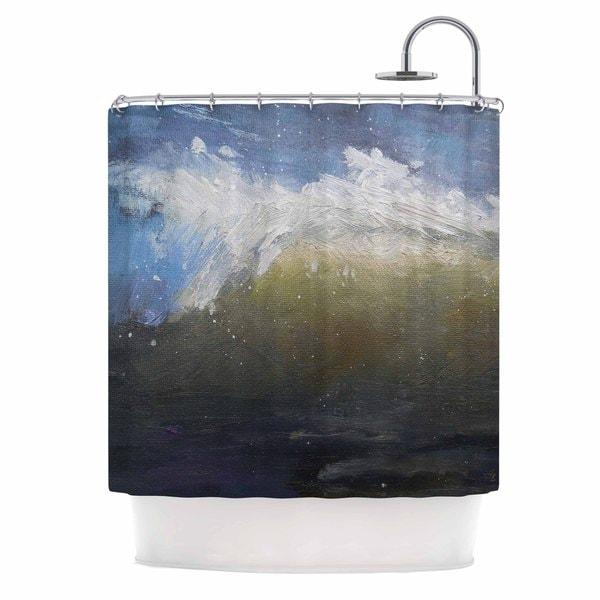 KESS InHouse Carol Schiff The Curl Nautical Painting Shower Curtain (69x70)