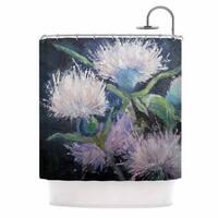 KESS InHouse Carol Schiff Thistle Love Pink Green Shower Curtain (69x70)