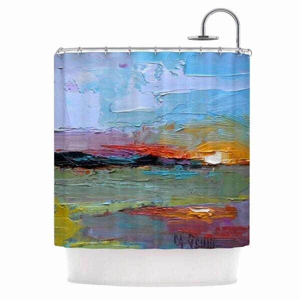 KESS InHouse Carol Schiff Hues Multicolor Painting Shower Curtain (69x70)