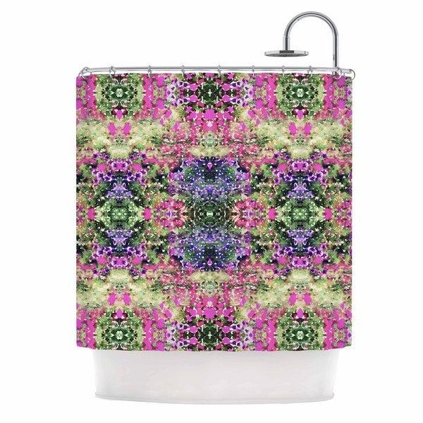 KESS InHouse Carolyn Greifeld Cascade Reflections Multicolor Abstract Shower Curtain (69x70)