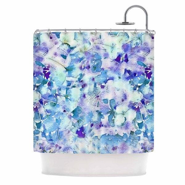 KESS InHouse Carolyn Greifeld Floral Fantasy Blue Purple White Shower Curtain (69x70)