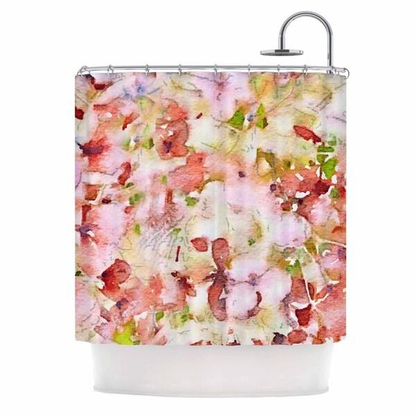 KESS InHouse Carolyn Greifeld Floral Fantasy Pink Abstract Shower Curtain (69x70)
