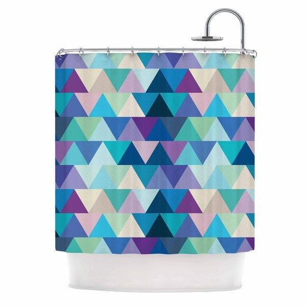 KESS InHouse Draper Crystal Purple Geometric Shower Curtain (69x70)