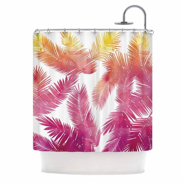 KESS InHouse Draper Tropic Love Pink Abstract Shower Curtain (69x70)