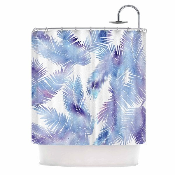 KESS InHouse Draper Tropic Breeze Blue Digital Shower Curtain (69x70)