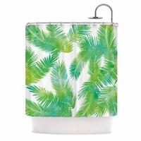 KESS InHouse Draper Tropic Summer Green Nature Shower Curtain (69x70)