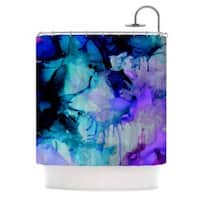 KESS InHouse Claire Day Lakia Blue Purple Shower Curtain (69x70)