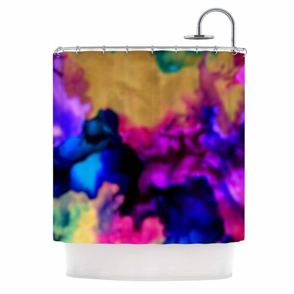 KESS InHouse Claire Day Lovely Pink Blue Shower Curtain (69x70)
