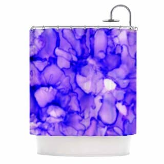 KESS InHouse Claire Day Purple Lavender Shower Curtain (69x70)