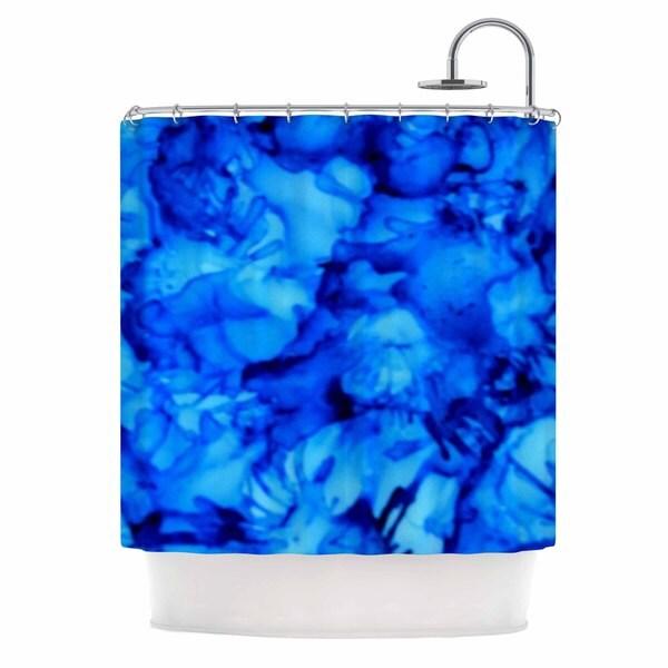 KESS InHouse Claire Day Blue Aqua Shower Curtain (69x70)