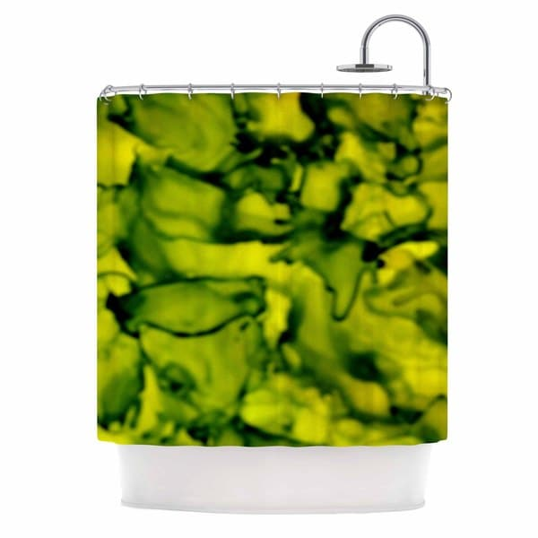 KESS InHouse Claire Day Green Yellow Shower Curtain (69x70)