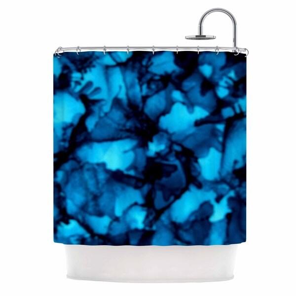 KESS InHouse Claire Day Teal Aqua Shower Curtain (69x70)