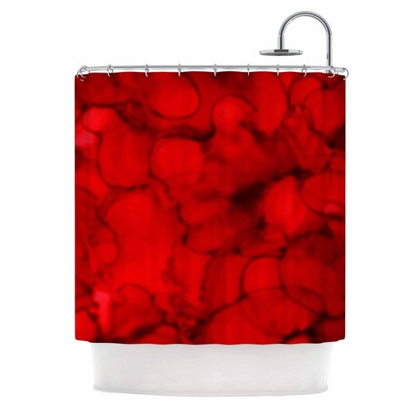 KESS InHouse Claire Day Red Abstract Maroon Shower Curtain (69x70)
