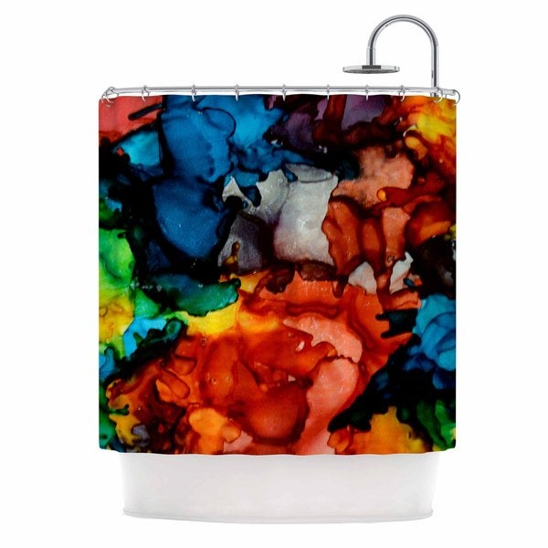 KESS InHouse Claire Day Fun Loving Multicolor Shower Curtain (69x70)