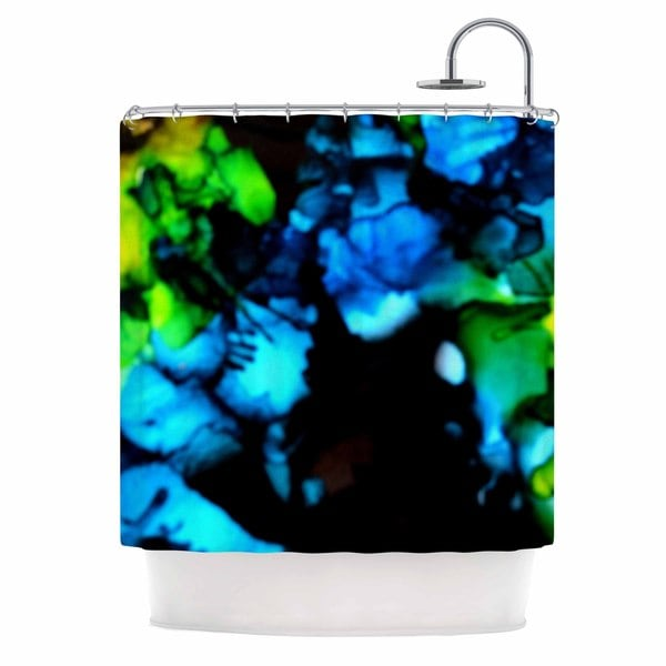 KESS InHouse Claire Day Deep Within Blue Green Shower Curtain (69x70)