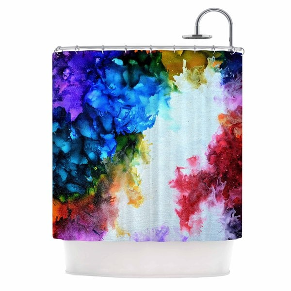 KESS InHouse Claire Day Fiona Rainbow Painting Shower Curtain (69x70)