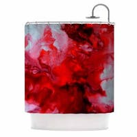 KESS InHouse Claire Day Simmer Red White Shower Curtain (69x70)
