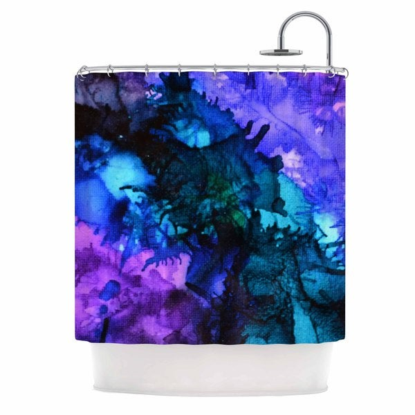 KESS InHouse Claire Day Soul Searching Purple Blue Shower Curtain (69x70)