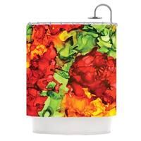 KESS InHouse Claire Day One Love Red Orange Shower Curtain (69x70)