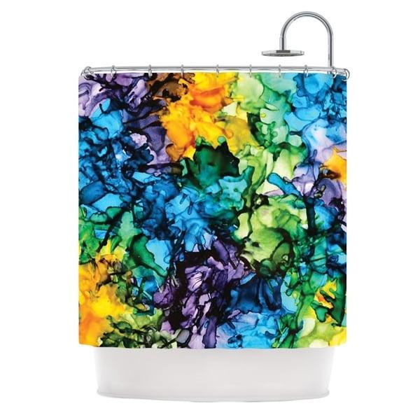 KESS InHouse Claire Day Gra Siorai Purple Blue Shower Curtain (69x70)