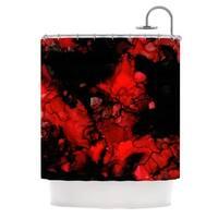 KESS InHouse Claire Day Vesuvius Red Dark Shower Curtain (69x70)