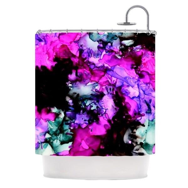 KESS InHouse Claire Day Siren Pink Purple Shower Curtain (69x70)