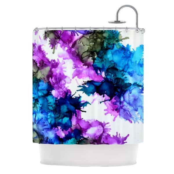 KESS InHouse Claire Day Utopia Blue Pink Shower Curtain (69x70)