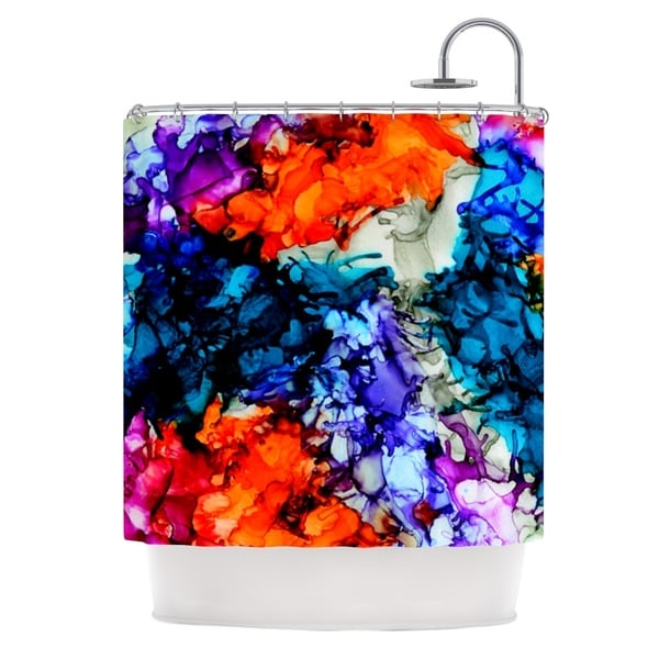 KESS InHouse Claire Day Evanescence Blue Rainbow Shower Curtain (69x70)