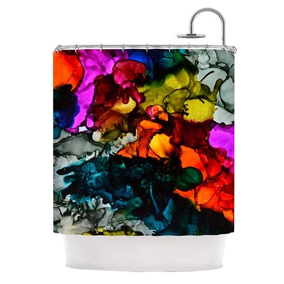 KESS InHouse Claire Day Hippie Love Child Shower Curtain (69x70)