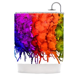 KESS InHouse Claire Day Rainbow Splatter Shower Curtain (69x70)