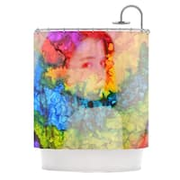 KESS InHouse Claire Day Clairefied Rainbow Paint Shower Curtain (69x70)
