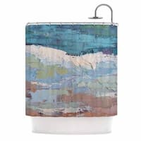 KESS InHouse Carol Schiff Surf Dreams Blue Teal Shower Curtain (69x70)