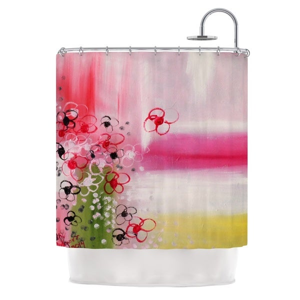 KESS InHouse Cathy Rodgers Spring Dreams Pink Yellow Shower Curtain (69x70)