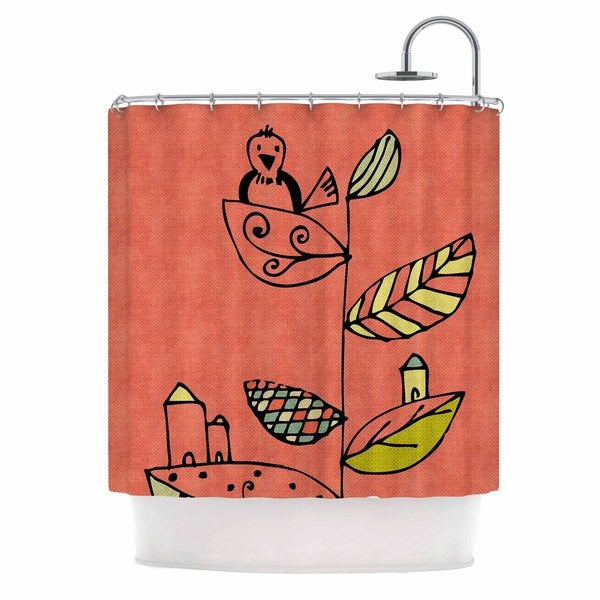 KESS InHouse Carina Povarchik Be You Coral Kids Shower Curtain (69x70)